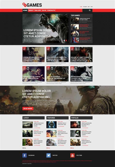 drupal themes clan game portal responsive drupal template 53753