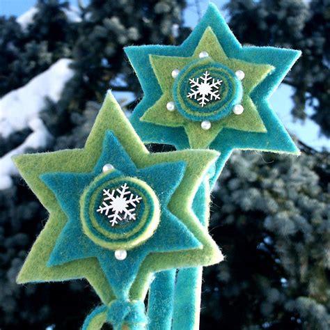 Weihnachtsdeko Aus Filz Basteln anleitung tannenbaum und sternstecker aus filz basteln