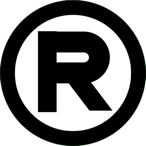 trade symbol registered trademark black clip art at clker com vector
