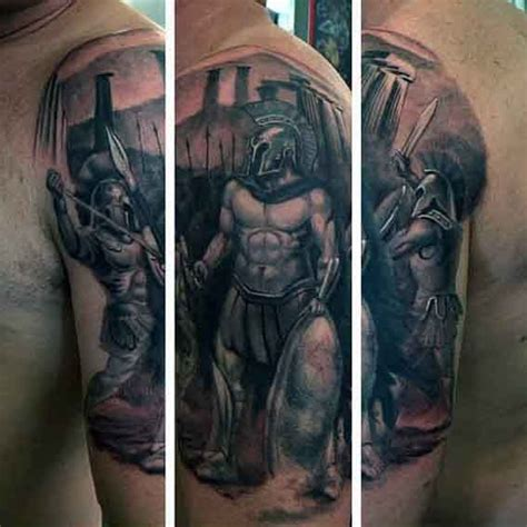 greek tattoos for men 50 spartan designs for masculine warrior