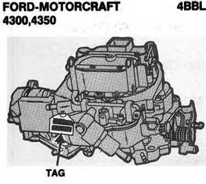 Ford Motorcraft Ford Motorcraft Autolite Carb Id