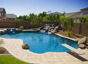 Backyard Pool Landscaping Triyae Simple Backyard Designs With Pool Various Design Inspiration For Backyard