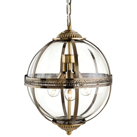 bronze globe pendant light firstlight 3413ab mayfair mini 3d orb pendant