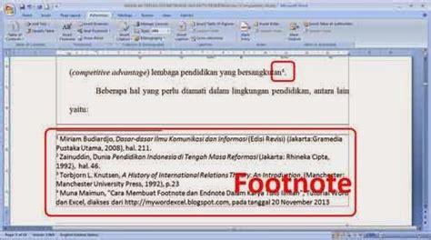 Cara Membuat Footnote Endnote | cara membuat footnote dan endnote pada microsoft word