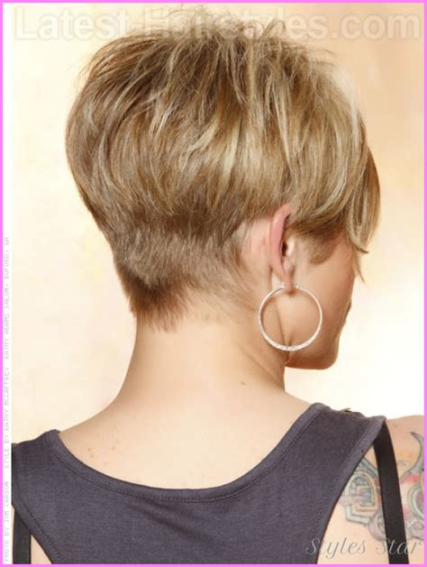 Latest New Short Hairstyles Back And Front View Haircuts