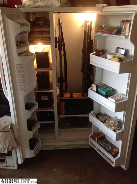 Kitchen Display Cabinets For Sale anybody ever made a gun safe out of an old refrigerator