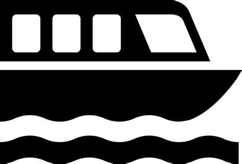 pontoon boat icon f 228 hre boot symbol 183 kostenlose vektorgrafik auf pixabay