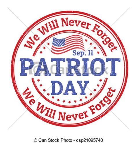 patriots day free eps vector of patriot day st grunge rubber st with the text csp21095740 search clip
