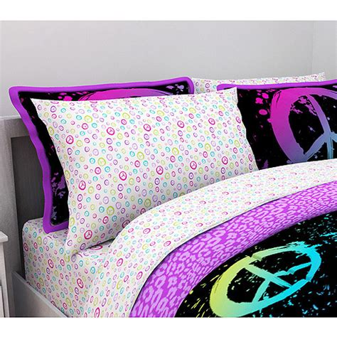 peace bedding latitude peace paint microfiber bedding sheet set walmart