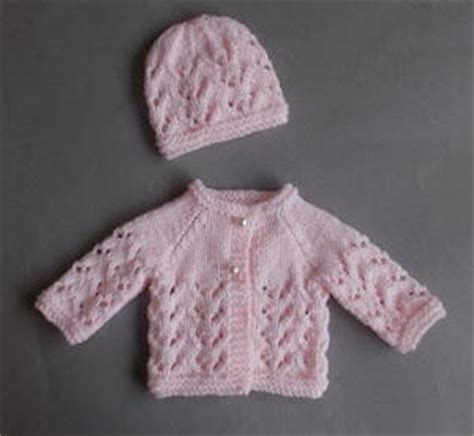 baby sets knitting patterns lace knit baby set allfreeknitting