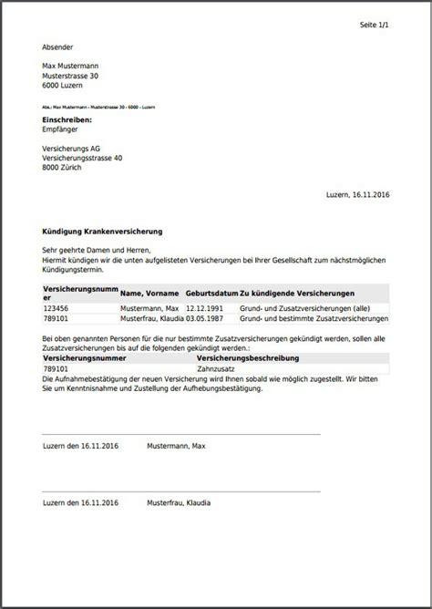 Schweiz Brief Schicken K 252 Ndigungsschreiben F 252 R Die Schweiz Kostenlos Als Pdf