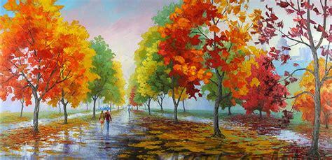 imagenes de paisajes modernos im 225 genes arte pinturas paisajes modernos coloridos