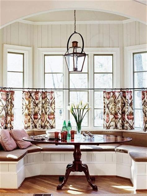 Kitchen Nook Curtains Window Treatment Design Ideas
