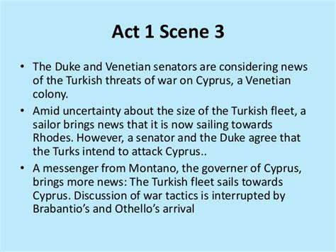 themes for othello act 1 3 act 1 scene 2