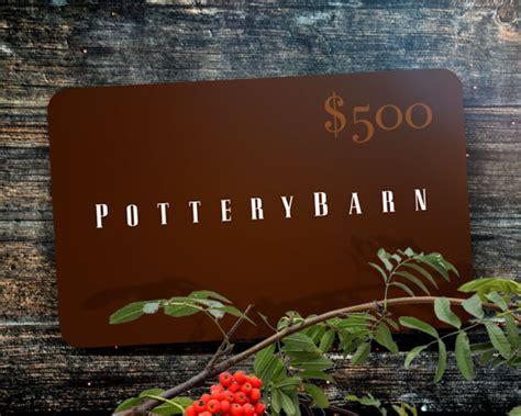 Potterybarn Sweepstakes - 500 pottery barn gift card sweepstakes