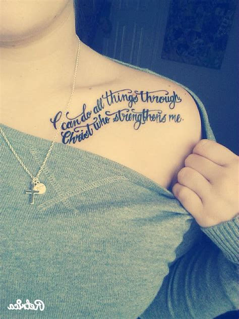 i can do all things through christ tattoo i can do all things through who strengthens me
