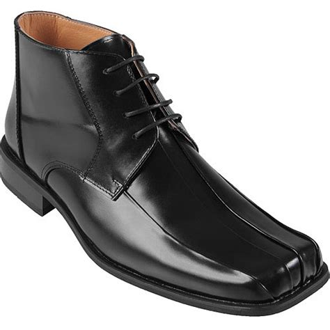 mens boots at walmart daxx mens topstitched leather lace up ankle boots