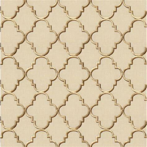 gold quatrefoil pattern gold tan embroidered quatrefoil fabric fancy fretwork