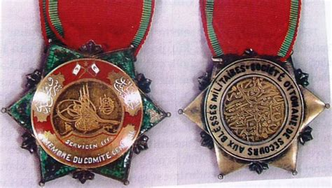 ottoman medals the medals of ottoman society for relief to the wounded