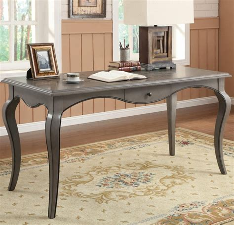 coaster 801512 grey wood office desk a sofa