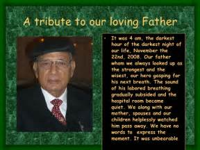 How To Write A Tribute For The Dead a tribute to our loving father