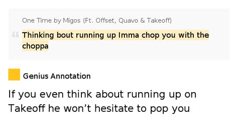 if he a imma lyrics thinking bout running up imma chop you with the choppa one time