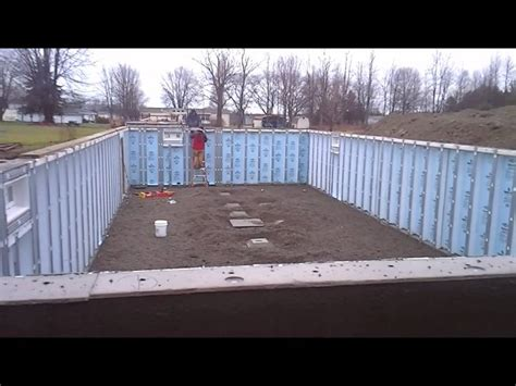 owl homes fredonia installing a precast basement