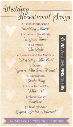 Wedding Ceremony Leaving Songs by 144 Swoon Worthy Songs For Every Part Of Your Wedding Day
