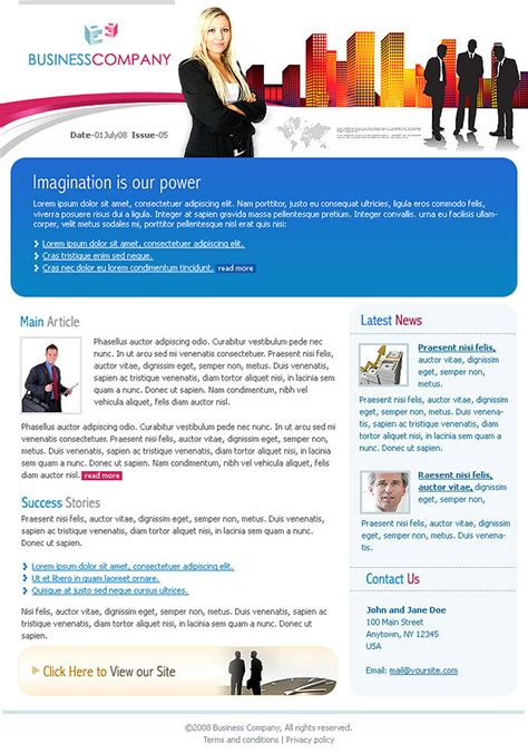corporate newsletter templates www imgkid com the