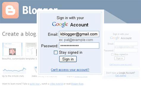 blogger tutorial blogspot com cara melakukan login ke akun blogger tutorial blogspot
