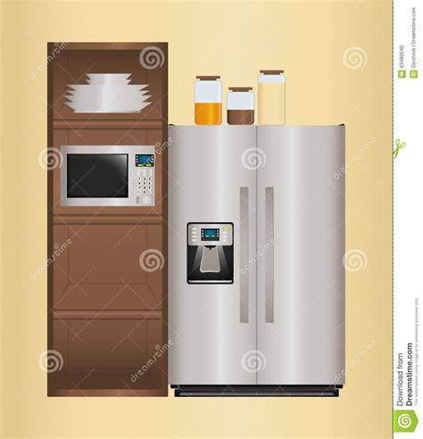 kitchen appliances design house appliances design stock vector image 63480540