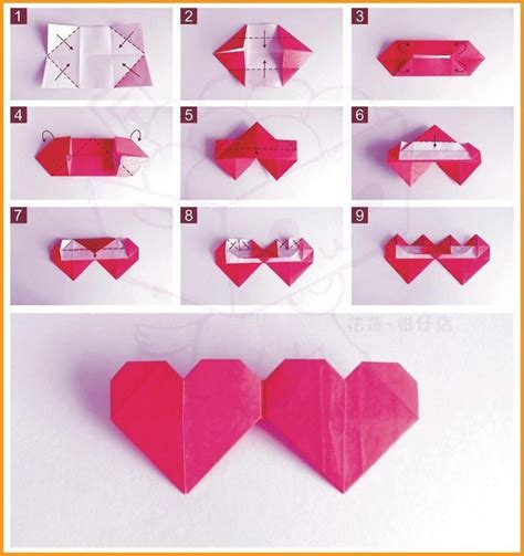 Origami Hearts - how to fold origami origami papercraft