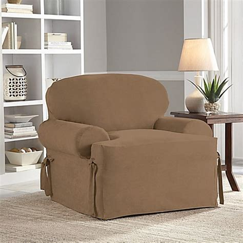 perfect fit couch covers perfect fit 174 smooth suede relaxed fit t cushion chair