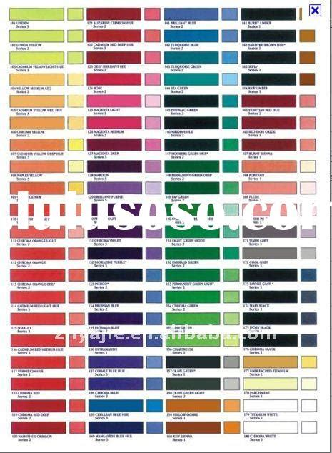4 best images of kirker paint color chart auto spray paint color chart artist paint color