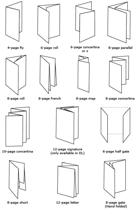 Paper Folding Styles - folding styles design for paperboy
