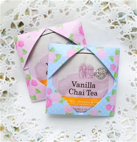 Origami Tea - zakka origami tea packet favors