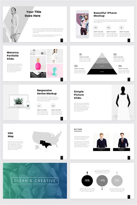 Prothom Creative And Minimal Powerpoint Template 68463 Office Templates