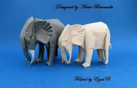 Origami Elephants - 31 origami elephants to fold for the elephantorigamichallenge