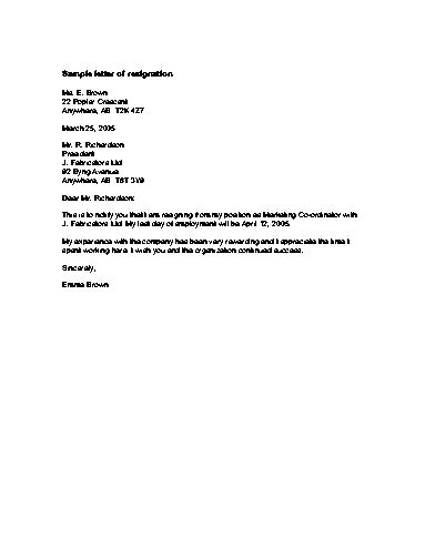 Cool Resignation Letter by 12 Cool Letters Of Resignation Sle Slebusinessresume Slebusinessresume