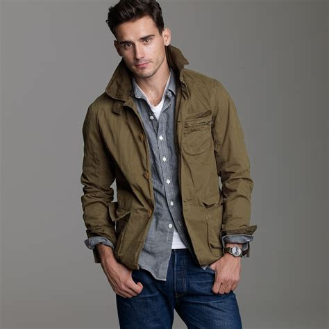 j crew trapper jacket in green for lyst