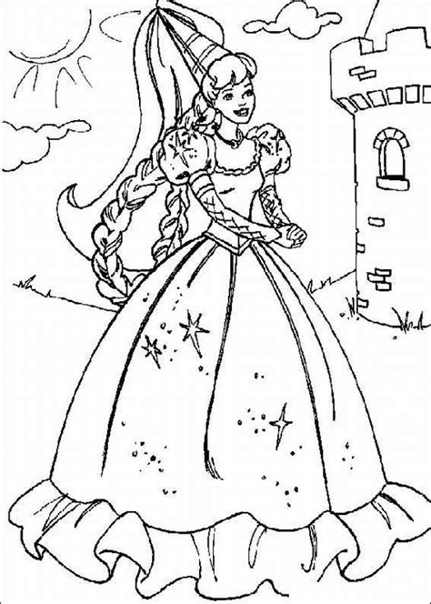 coloring pages of princess barbie disney cartoon barbie doll princess coloring pages