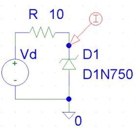 zener diode as voltage regulator on pspice exle 2