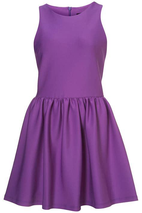 Top Shoo topshop scuba skater dress in purple lyst