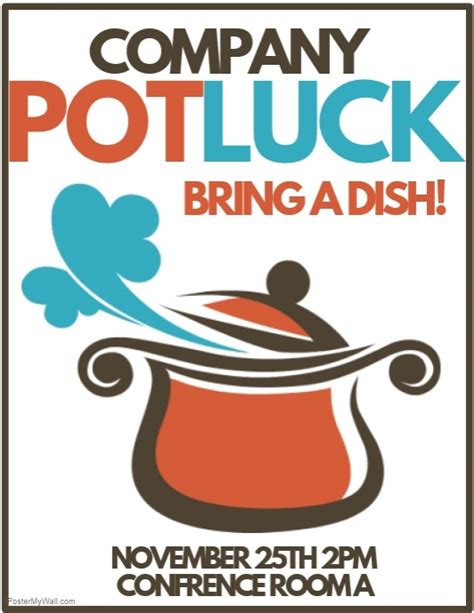 potluck flyer template search results for new year potluck calendar 2015