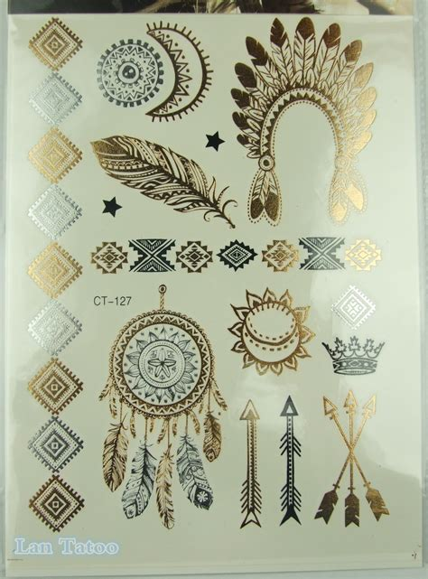 henna tattoo chicago prices indian feather jewelry sticker metallic tattos