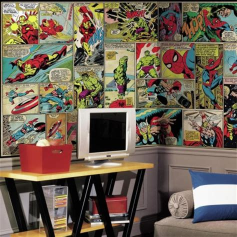 comic wall mural marvel comic panel xl wall mural 10 5 x 6 roommates