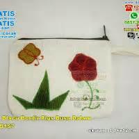 Dompet Bordir dompet blacu motif batik bordir lapis dalam busa souvenir pernikahan