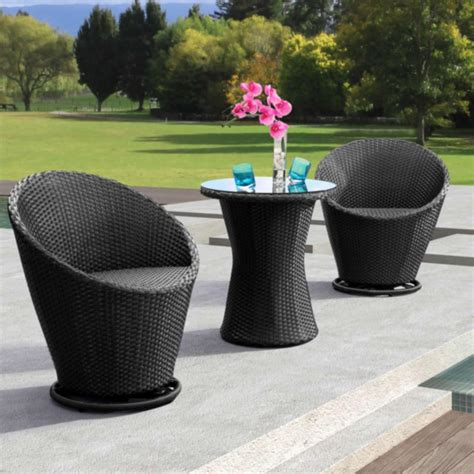 Glass Bistro Table And 2 Chairs Bistro Table Set Zuo Modern Cabo 2 Person Patio Bistro Set With Glass Top Table Espresso In