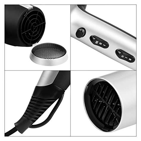 aigostar 32gpo secador profesional de pelo en color plateado y negro con difusor y