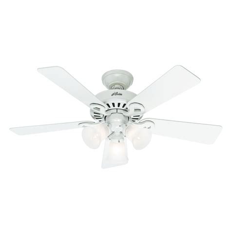 lowes white ceiling fan shop ridgefield 5 minute 44 in white downrod or